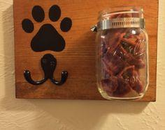 Dog Treat Leash Holder Dog Leash Wall Hook by NotBySightCreations