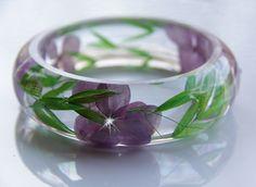 Terrarium Jewelry, Preserved Flower Jewelry, Resin Jewelry, Rustic Wedding, Hydrangea Jewelry, Flower Bracelet, Hydrangea Bracelet by JasmineThyme on Etsy