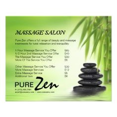 Promotional Spa U0026 Massage Salon Flyers