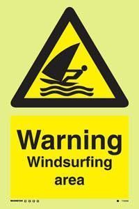 Marine Water Safety Sign: Warning Windsurfing Area