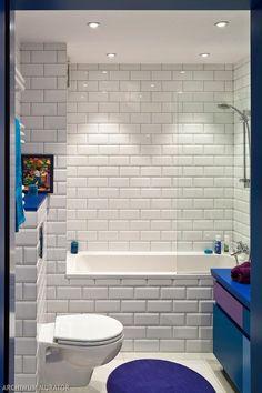 Niebieska łazienka - siła dodatków
