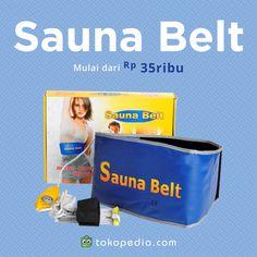 Ingin merasakan sensasi panasnya sauna, tanpa harus jauh-jauh ke tempat latihan kebugaran? Dengan Sauna Belt kamu bisa kok melakukan sauna di rumah. Detox dan membakar lemak jadi makin praktis deh. Segera dapatkan Sauna Belt di http://www.tokopedia.com/hot/sauna-belt mulai dari Rp 35.000,- (harga bervariasi).