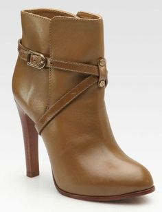 New Tory Burch  Ankle Boots Bootie Reva Dorese 6.5 VICUNA Rare Brown Stacked