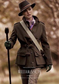 here are some William & Son ads starring women. There's just a special quality out of William & Son. i dont know what it is but its appealing all around English Country Fashion, British Country Style, Country Wear, English Style, Country Outfits, Country Chic, Countryside Fashion, William And Son, Hunting Clothes