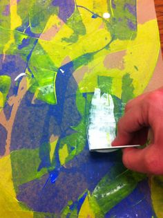 Drip, Drip, Splatter Splash- great directions for painting with cardboard instead of brushes.