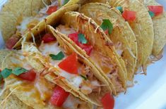 Crunchy Baked Cream Cheese Chicken Tacos