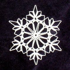Ravelry: Triple Crochet Snowflake (archive) pattern by Free Crochet Snowflake Patterns, Crochet Stars, Crochet Snowflakes, Thread Crochet, Crochet Motif, Crochet Crafts, Crochet Doilies, Crochet Flowers, Crochet Projects