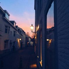 Staff pic: When your daily commute takes you down cobbled streets with beautiful sunsets - Aude  It seems there are some perks in the sun setting earlier these days.