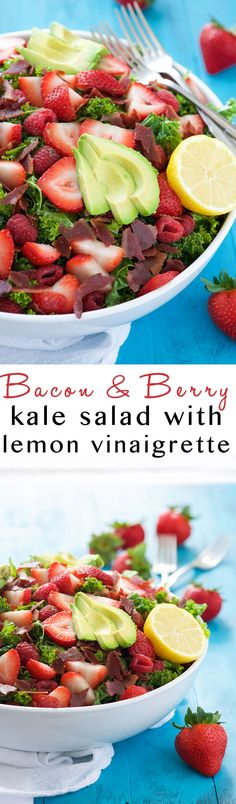 Salad with Honey Lemon Vinaigrette is a summertime superfood salad ...