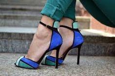 Resultado de imagen para blue t strap high heel sandals