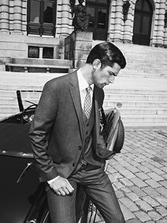 An elegant three-piece suit.