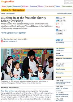 The Guardian: Mucking in at the free cake charity baking workshop (07/12/2013)