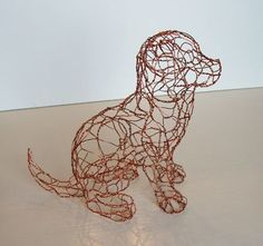 Cute little dog made with a 3D printing pen