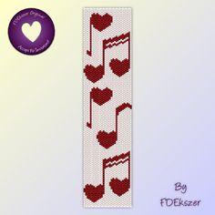 Sonnet - Peyote Stitch Beading Pattern for cuff bracelet