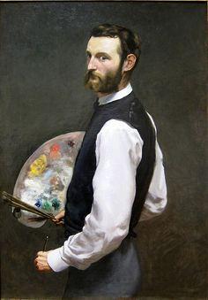 Autoportrait de Frédéric Bazile (1841-1870) 1865                                                                                                                                                                                 Plus
