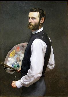 Frederic Bazile (French 1841-1870) Self Portrait 1865-66