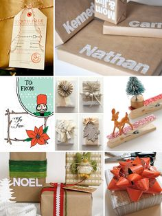 Oh So Beautiful Paper: Holiday Gift Wrap Inspiration: Last Minute DIY Ideas