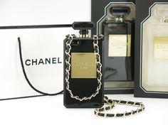 IPhone 4 &4S&5 Chanel 2014 Neue Parfüm Flasche Case Hülle Mit Golden Kette