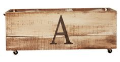 Crafted of reclaimed pine and beautifully stenciled by hand, each of these crates is one-of-a-kind, and adds personalized style to your interiors while keeping them organized.Based on St. Simons...
