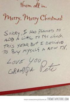 Fair enough, Grandpa Pete…