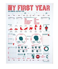 My First Year Poster : if only I had found this before L was born! Hang it somewhere you can see it. Because who can remember to fill in a baby book?
