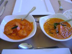 Prawn and fish curries