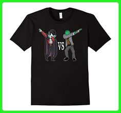Mens Funny Halloween Dabbing Vampire vs Zombie Franky Costume Tee 2XL Black - Fantasy sci fi shirts (*Amazon Partner-Link)