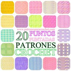 20 patrones gráficos de puntadas fantasía para tejer con ganchillo Knit Crochet, Crochet Patterns, Knitting, Projects, Blog, Diy, Crocheting, Spanish, Magazine