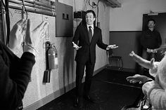 Jimmy backstage before the monologue.