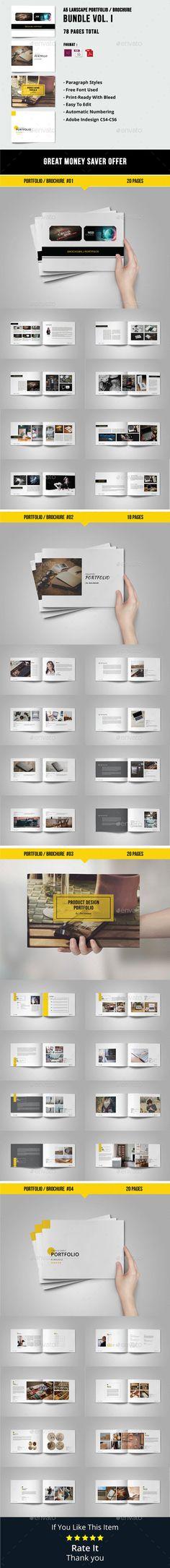 Graphic Design Portfolio Template Brochure Templates