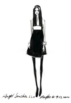 Fashion illustration - stylish fashion sketch // Mengjie Di