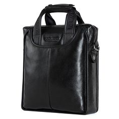 BOSTANTEN Leather Handbag Briefcase Messenger Business Work Bags for Men Black Small