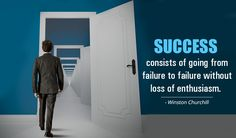 #Success consists of going from failure to failure without loss of enthusiasm. - Winston Churchill http://www.networkmarketingpaysmebig.com/