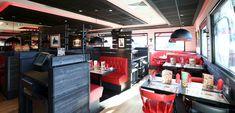 Agencement et mobilier sur mesure pour le restaurant Buffalo Grill de Ste Eulalie (sauf banquettes rouge). Banquettes, Buffalo, Restaurants, Grill Restaurant, Grilling, Sauf, Retail, Ideas, Bespoke Furniture