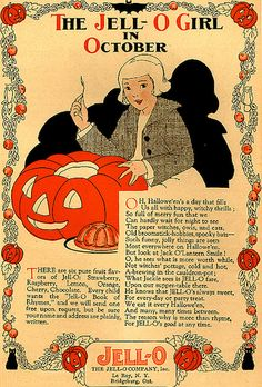 The Jell-O Girl in October ...