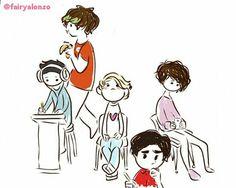 Los dibujos más adorables que he visto de los chicos #CD9  Lo saque de Twitter :3