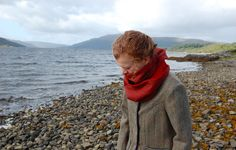 Women's tweed and velvet SNOOD. Designed and handmade in Scottish Highlands.  Inspired by times past. www.lornagillies.com