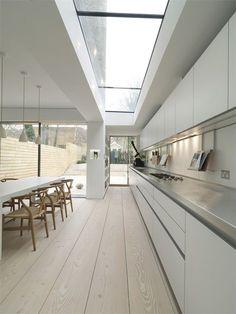 New kitchen modern interior design glass roof Ideas