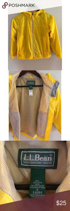 LL Bean Rain Coat Supreme quality rain jacket ☔️. Mesh lined. Reflective labeling. Zipper pockets. Hood. Label for name and number. L.L. Bean Jackets & Coats Raincoats