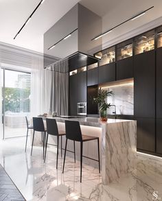 Kitchen countertop materials: pros and cons Modern Kitchen Design Cons Counterto Luxury Kitchens Luxury Kitchen Design, Kitchen Room Design, Luxury Kitchens, Home Decor Kitchen, Rustic Kitchen, Interior Design Kitchen, Modern Interior Design, Luxury Interior, Home Kitchens