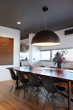 Dining-grey ceiling & white walls  Clovelly House