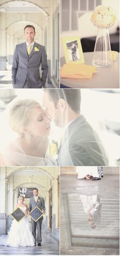 great gray and yellow wedding