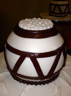 Modern Traditional African Wedding Cake