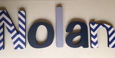Wooden Letter Boy Nursery 5- Hanging Letter Set on Etsy, $92.00
