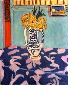 Les coucous, tapis bleu et rose, 1911, by Henri Matisse (French, 1869–1954).