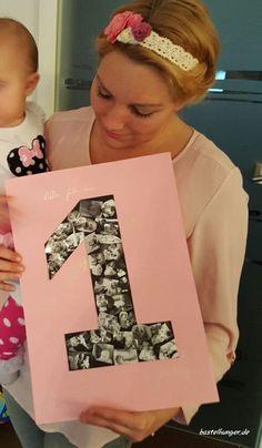 Erster Geburtstag Gästebuch mit Bildern vom Geburtstagskind und den Gästen aus dem vergangenem ersten Lebensjahr.
