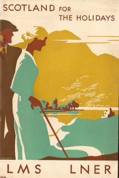 Vintage Poster Scotland For The Holidays / vintage travel posters from the sparked my love for graphic design. illustration by V L Danvers. - During the the London Midland Posters Uk, Railway Posters, Retro Poster, Poster Ads, Tourism Poster, Vintage Travel Posters, Vintage Ads, British Travel, Famous Castles