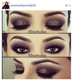 Smokey glitter-Brown eyes