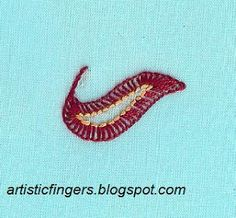artisticfingers: Chikan embroidery blanket stitch tutorial