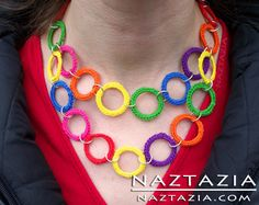 Crochet Ring Necklace Jewelry - Crocheted by Donna Wolfe from Naztazia